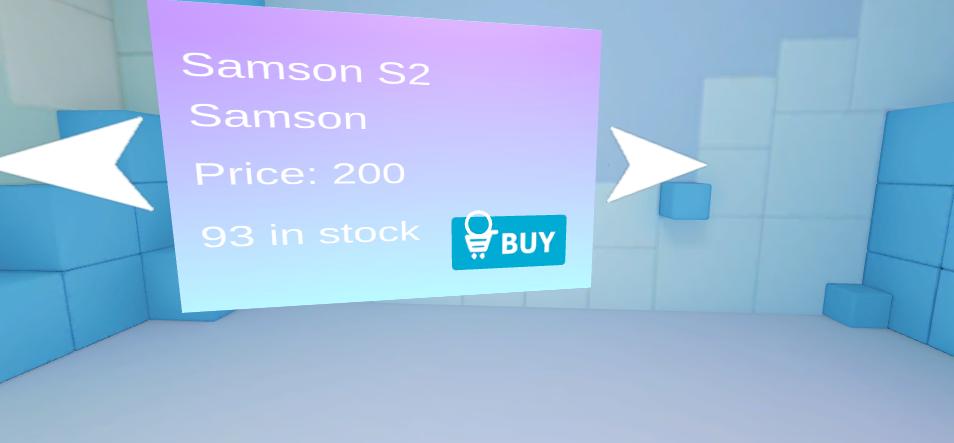 VR-App: Produktanzeige Buy-Button