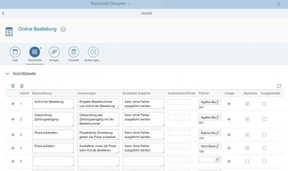 Phase Testplanung - Anwendung Testschritt-Designer