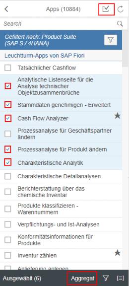 SAP Fiori Apps Checkbox
