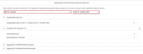 SAP Fiori Apps Implementierungsinformationen